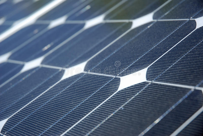 Detalhe da energia solar fotografia de stock