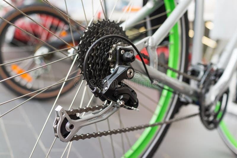 Detalhe da engrenagem da bicicleta foto de stock