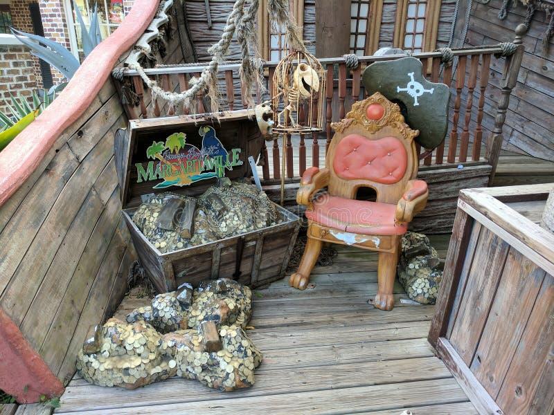 Detalhe da entrada do restaurante de Margaritiville em Jamaica fotografia de stock royalty free