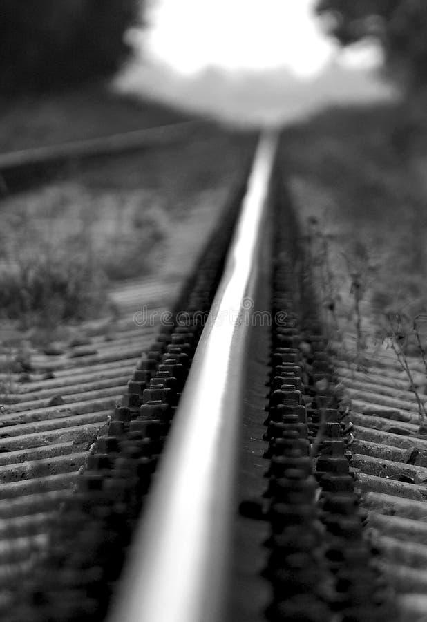 Detalhe da estrada de ferro, monocromático imagem de stock royalty free