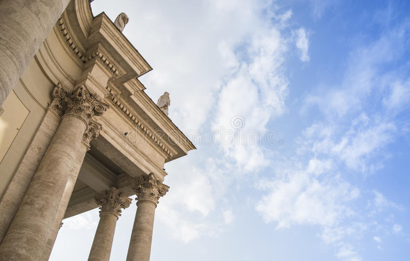 Detalhe da fachada da igreja fotografia de stock royalty free