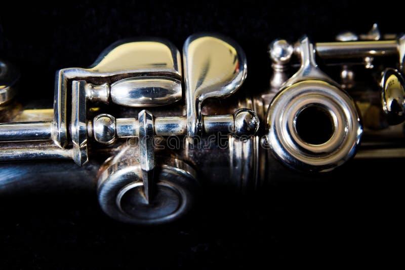 Detalhe da flauta - conceito da música imagem de stock royalty free