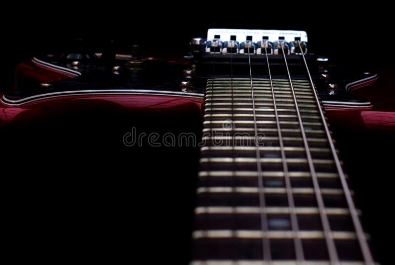 Detalhe da guitarra foto de stock
