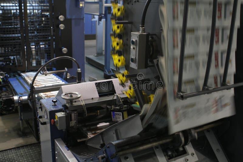 Detalhe da máquina de impressão deslocada imagens de stock royalty free