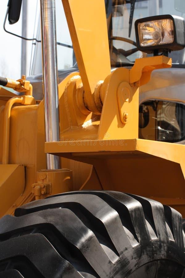 Detalhe da máquina escavadora. fotos de stock royalty free