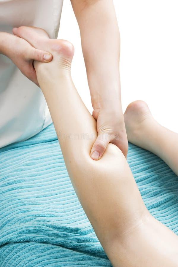 Detalhe da massagem do pé imagens de stock royalty free