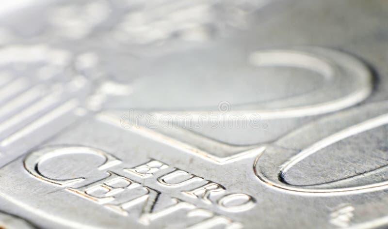 Detalhe da moeda do centavo de Euro 20 foto de stock royalty free