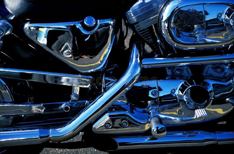 Detalhe da motocicleta fotografia de stock royalty free