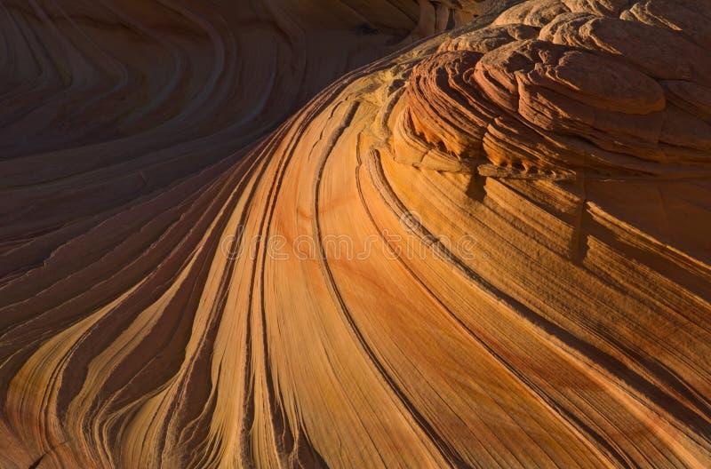 Detalhe da onda, Buttes do chacal foto de stock