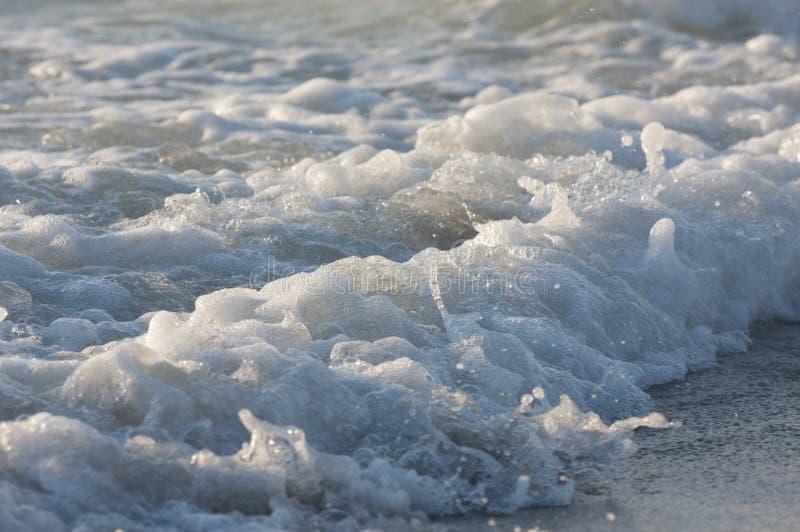 Detalhe da onda do mar fotografia de stock