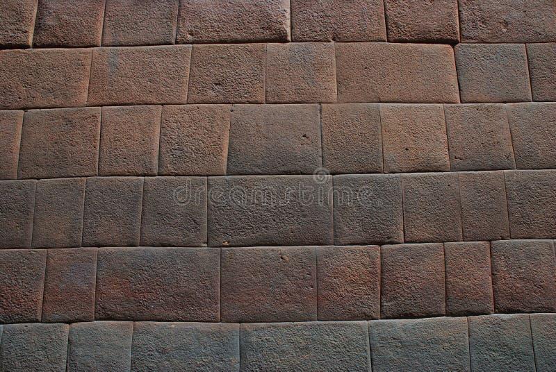 Detalhe da parede do Inca foto de stock
