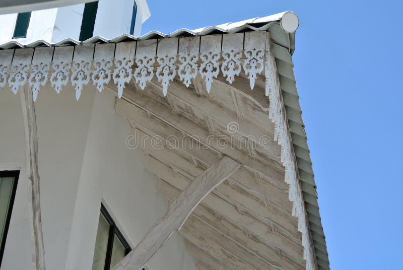 Detalhe da placa da fáscia em Abidin Mosque em Kuala Terengganu, Malásia foto de stock royalty free