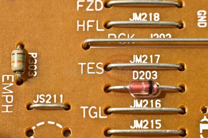 Detalhe da placa de circuito da eletrônica imagens de stock
