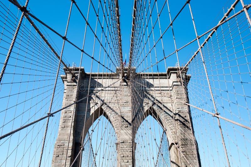 Detalhe da ponte de Brooklyn 2 imagem de stock royalty free