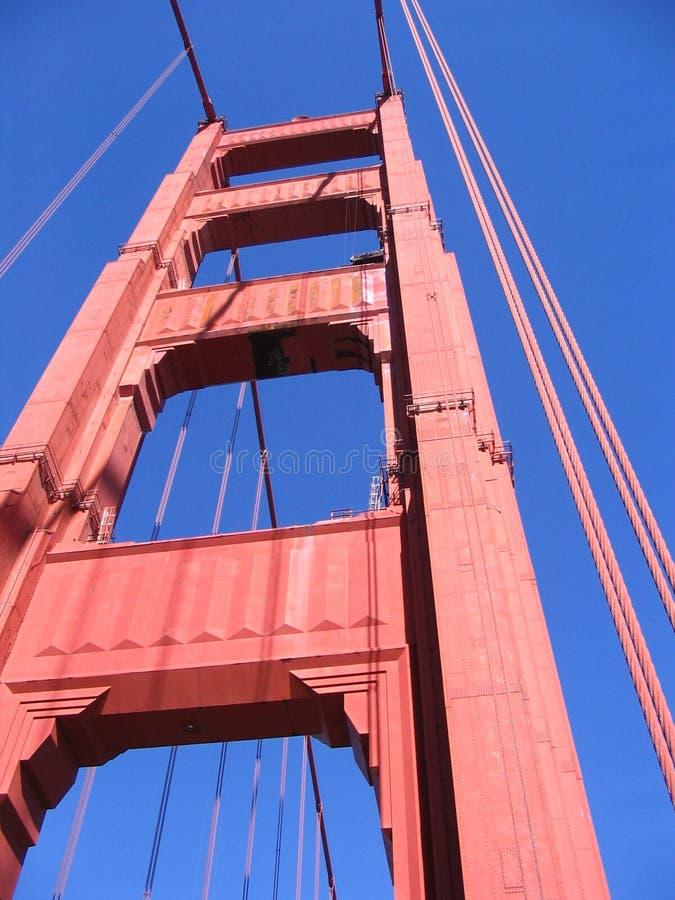 Detalhe da ponte de porta dourada imagem de stock