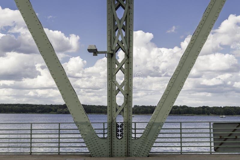 Detalhe da ponte dos espiões em Potsdam fotos de stock royalty free