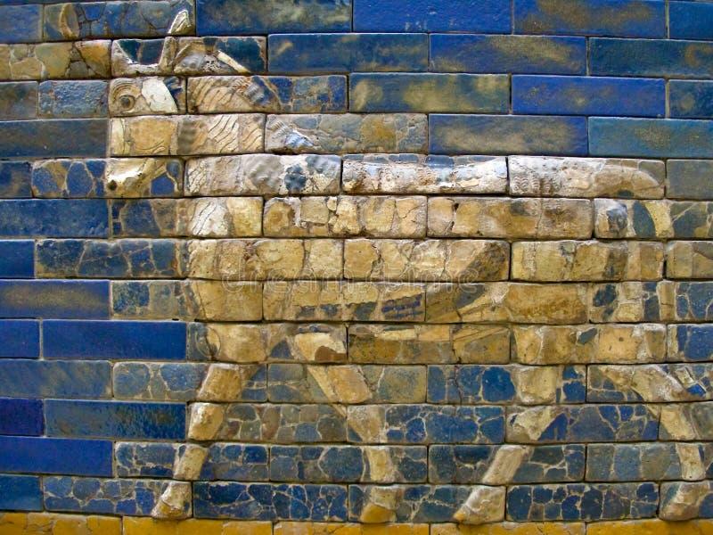 Detalhe da porta de Ishtar. fotografia de stock