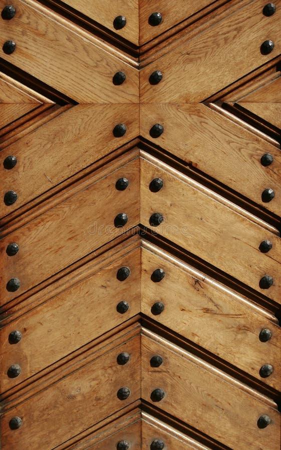 Detalhe da porta de Woden imagens de stock royalty free