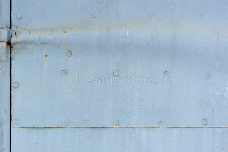 Detalhe da porta do metal fotografia de stock royalty free