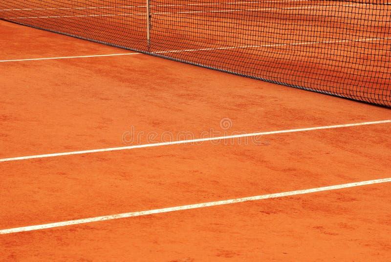 Detalhe da rede e as linhas de uma corte de tênis foto de stock royalty free