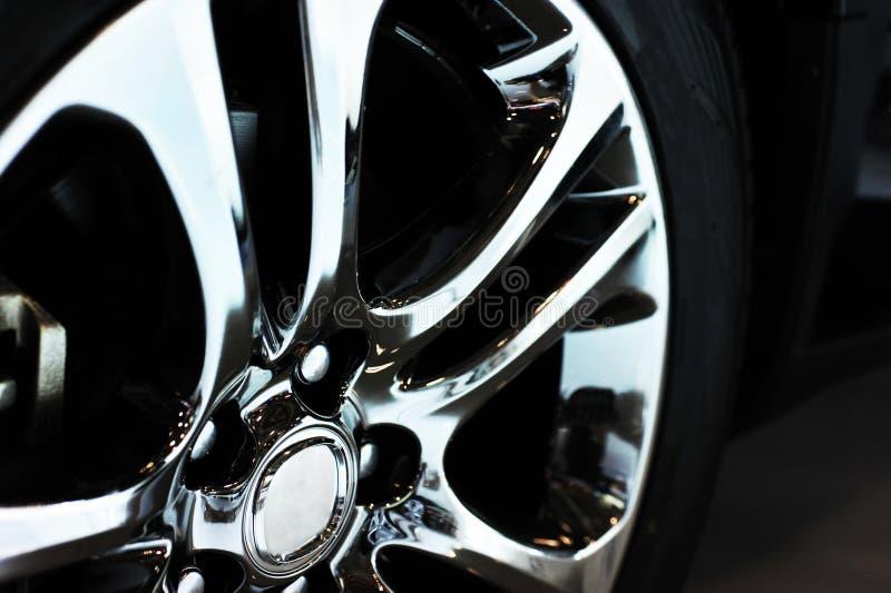 Detalhe da roda de carro imagem de stock