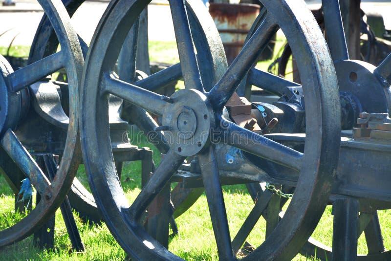 Detalhe da roda do ferro fotografia de stock