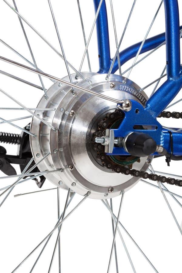 Detalhe da roda traseira da bicicleta imagem de stock royalty free