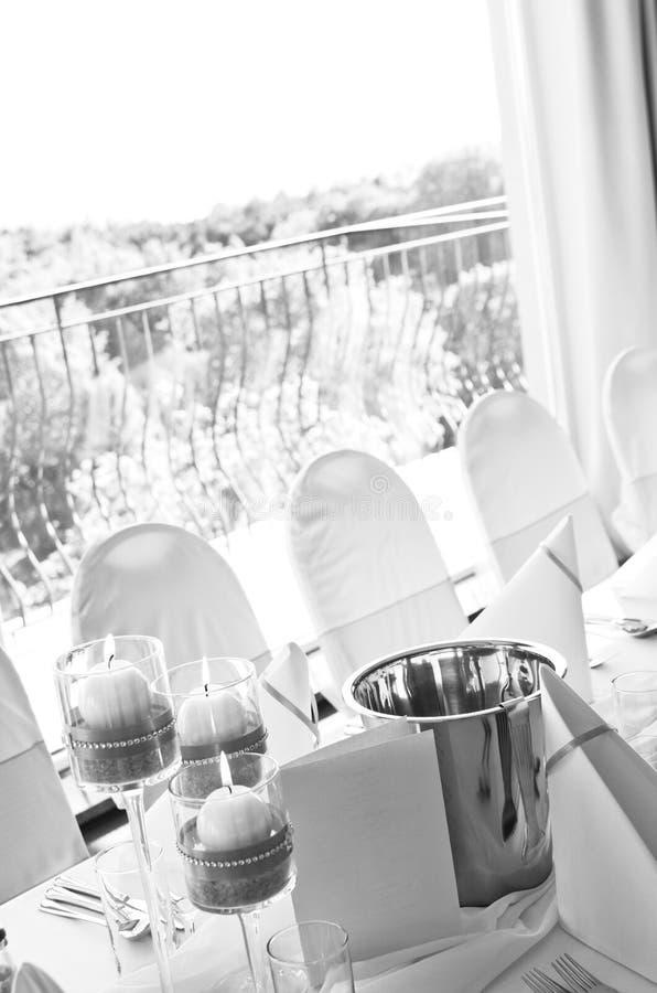 Detalhe da tabela do casamento imagens de stock royalty free