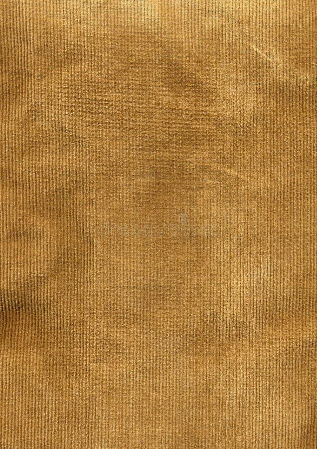 Detalhe da tela do veludo de algodão de Tan imagem de stock