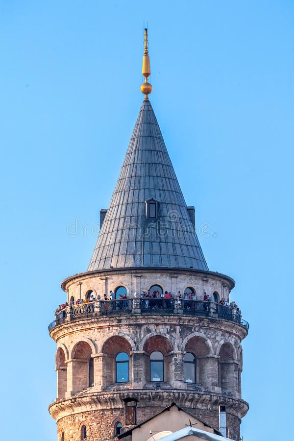 Detalhe da torre de Galata imagem de stock