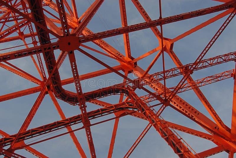 Detalhe da torre do Tóquio foto de stock royalty free