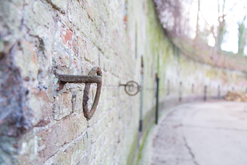 Detalhe das paredes da fortaleza de Edegem, Antuérpia imagem de stock royalty free