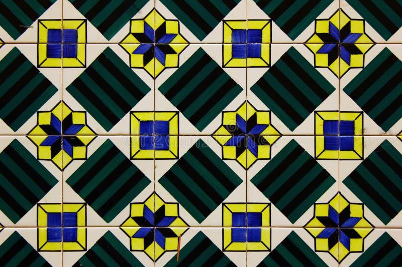 Detalhe de algumas telhas portuguesas típicas imagem de stock royalty free