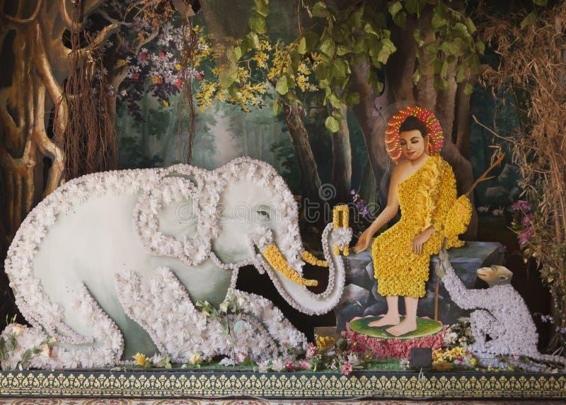 Detalhe de altar de Budhist foto de stock