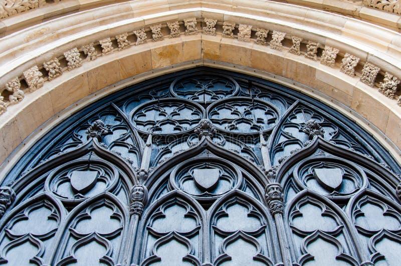 Detalhe de Architectual de igreja de York na cidade de York fotografia de stock