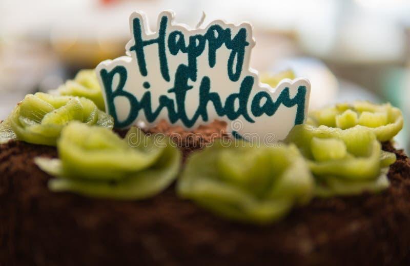 detalhe de bolo de aniversário imagens de stock