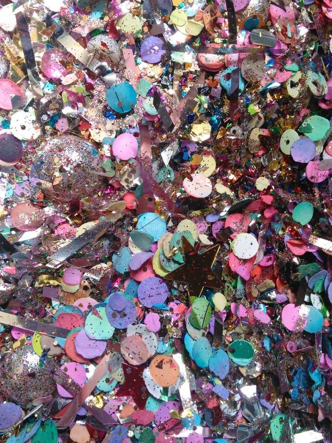 Detalhe de brilho, confete fotografia de stock royalty free
