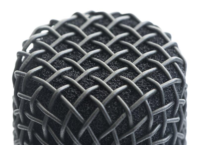 Detalhe de cabeça do microfone imagem de stock