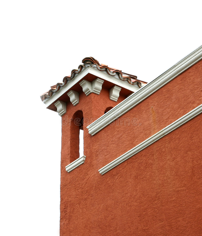 Detalhe de canto do edifício fotos de stock royalty free