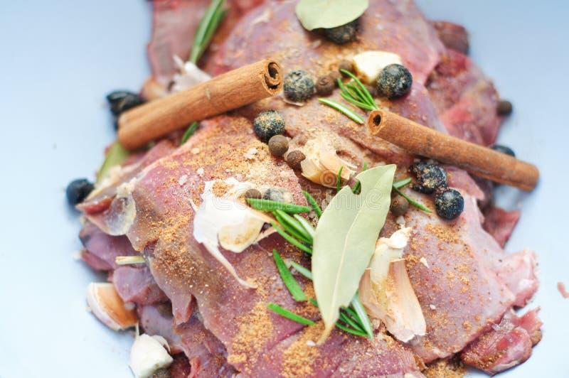 Detalhe de carne do varrão selvagem imagens de stock royalty free