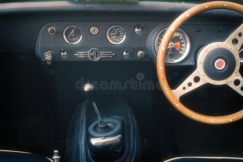 Detalhe de carro do vintage de MG fotografia de stock royalty free