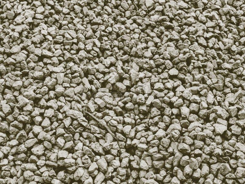 Detalhe de carvão da má qualidade no montão Antracite esmagada imagens de stock