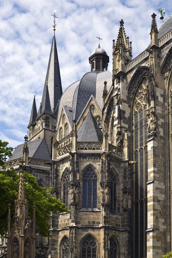 Detalhe de catedral de Aix-la-Chapelle fotografia de stock