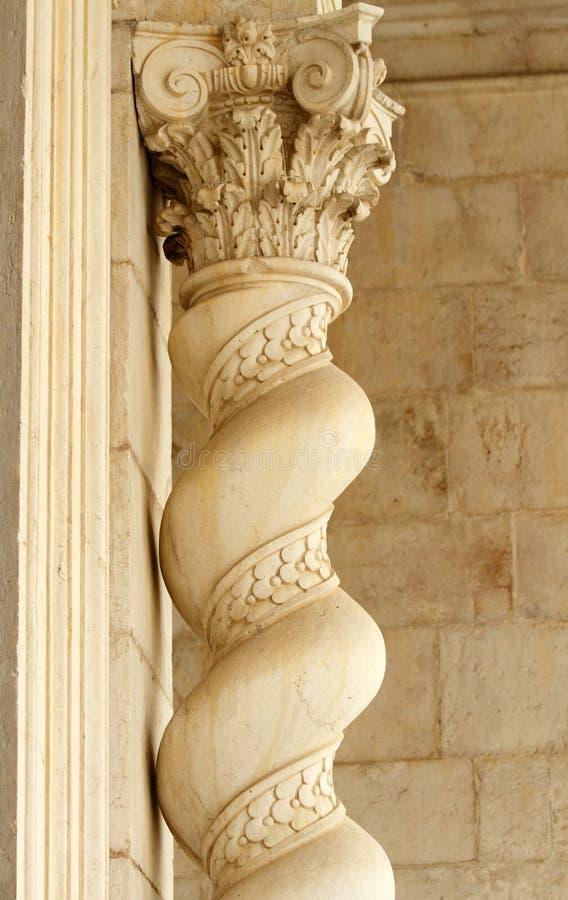 Detalhe de coluna clássica imagem de stock