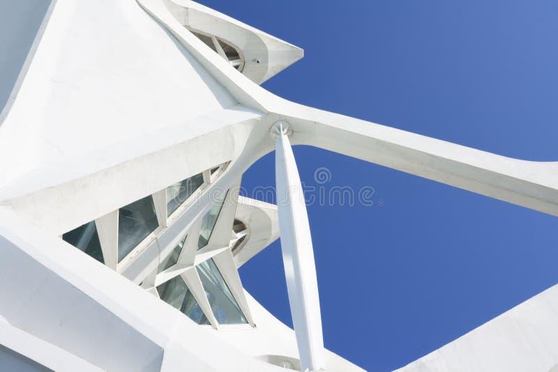 Detalhe de construção da cidade das artes em Valência foto de stock royalty free