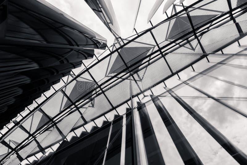 Detalhe de construção de Tomas Bata University em Zlin (TBU) fotografia de stock