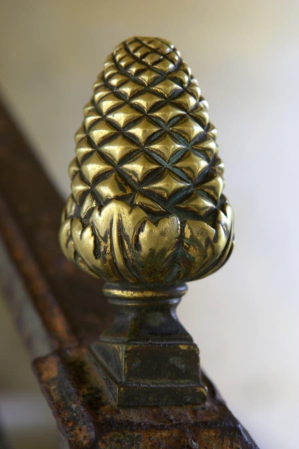 Detalhe de corrimão no Pagoda no chanteloup, amboise, Loire Valley, france fotografia de stock