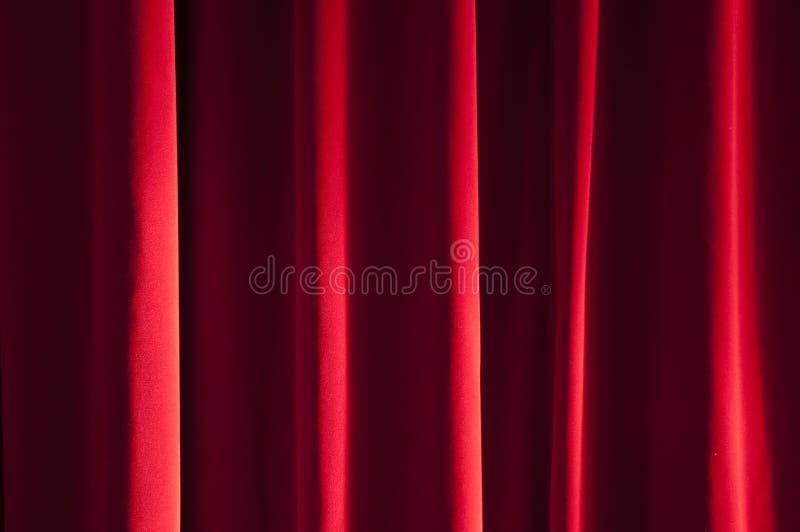 Detalhe de cortina vermelha fotos de stock