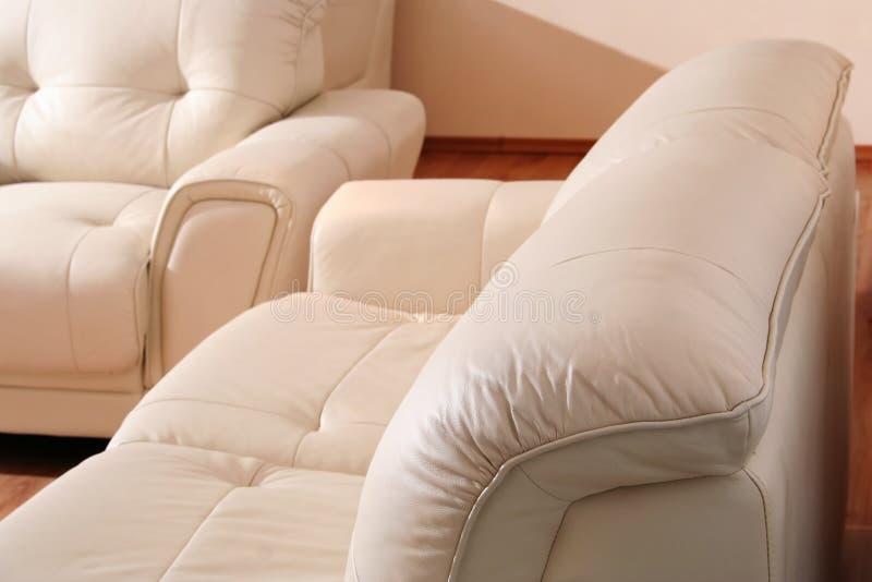 Detalhe de couro da mobília imagem de stock