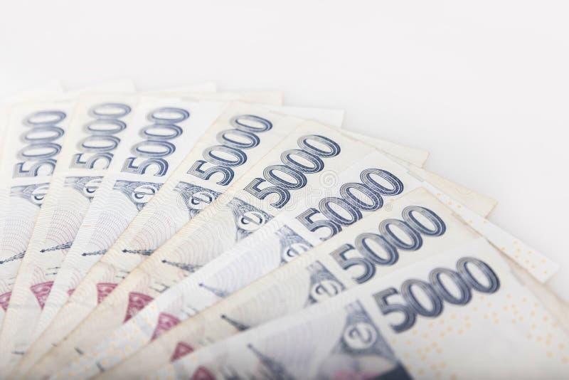 Detalhe de dinheiro checo - a moeda checa foto de stock royalty free